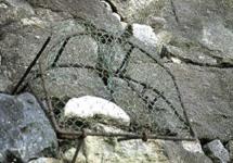 姫路城のコラム姥が石