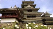 松本城の見所③月見櫓前の牡丹園