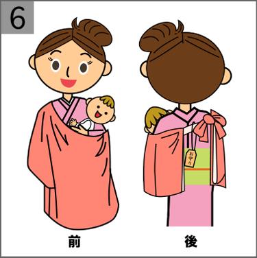 お宮参りの赤ちゃんの祝い着と産着の着せ方【図解でわかりやすい】