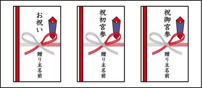 お宮参りのお祝い金|熨斗の描き方