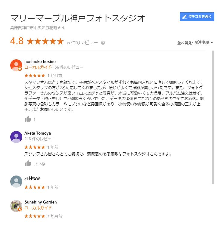 マリーマーブル神戸口コミ